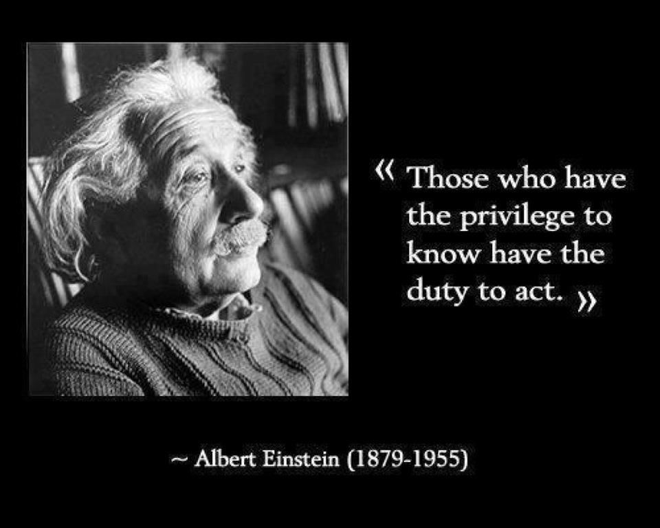 Albert Einstein Quote About Responsibility Coming With Knowledge
