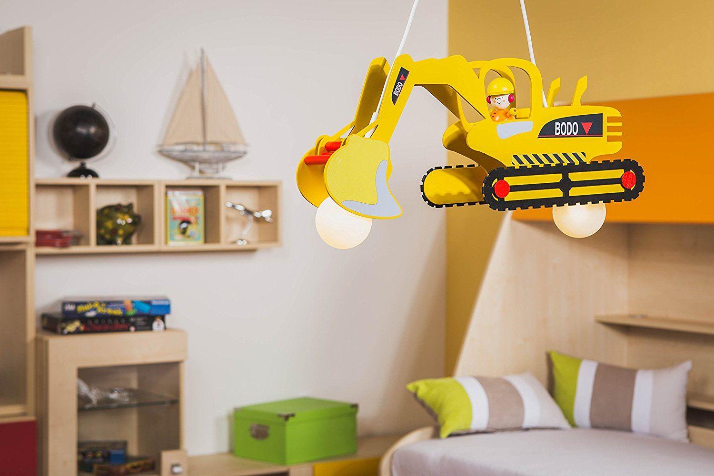 Elobra Kinder Lampe Pendellampe Bagger mit Bodo Deckenleuchte ...