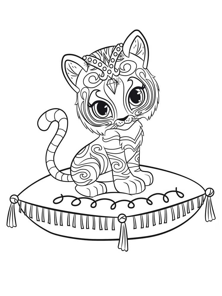 Shimmer and Shine Coloring Pages Movies and TV Show