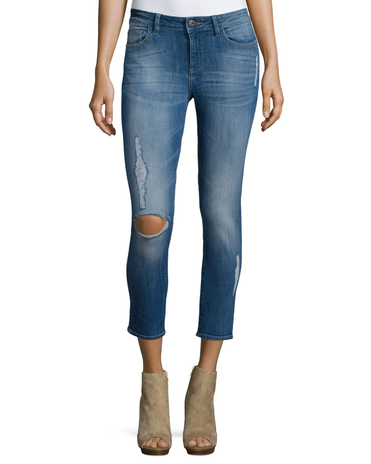 8e826958367f9 Florence Distressed Skinny Cropped Jeans