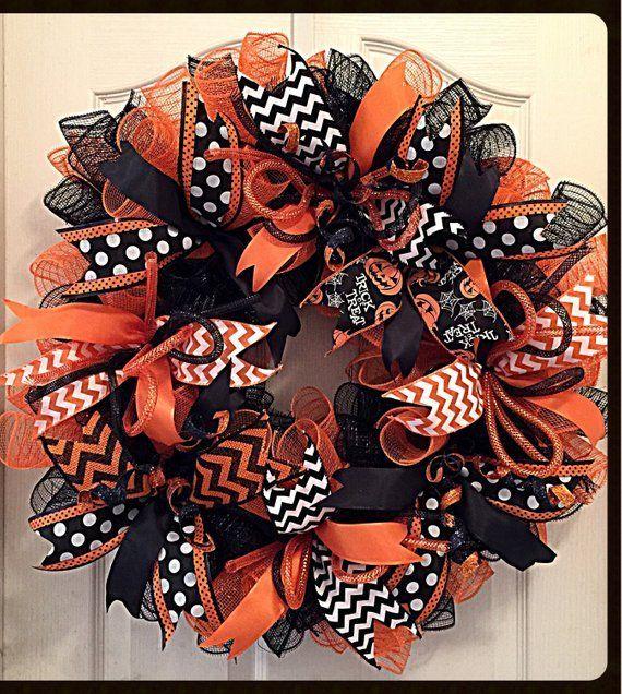 Sie werden es lieben, Ihr Zuhause in diesem Herbst zu dekorieren, wenn Sie dieses Halloween O... #halloweenwreaths