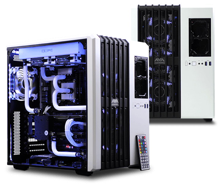 Awesome Bent Hardline Liquid Cooling Setup Gaming Computer