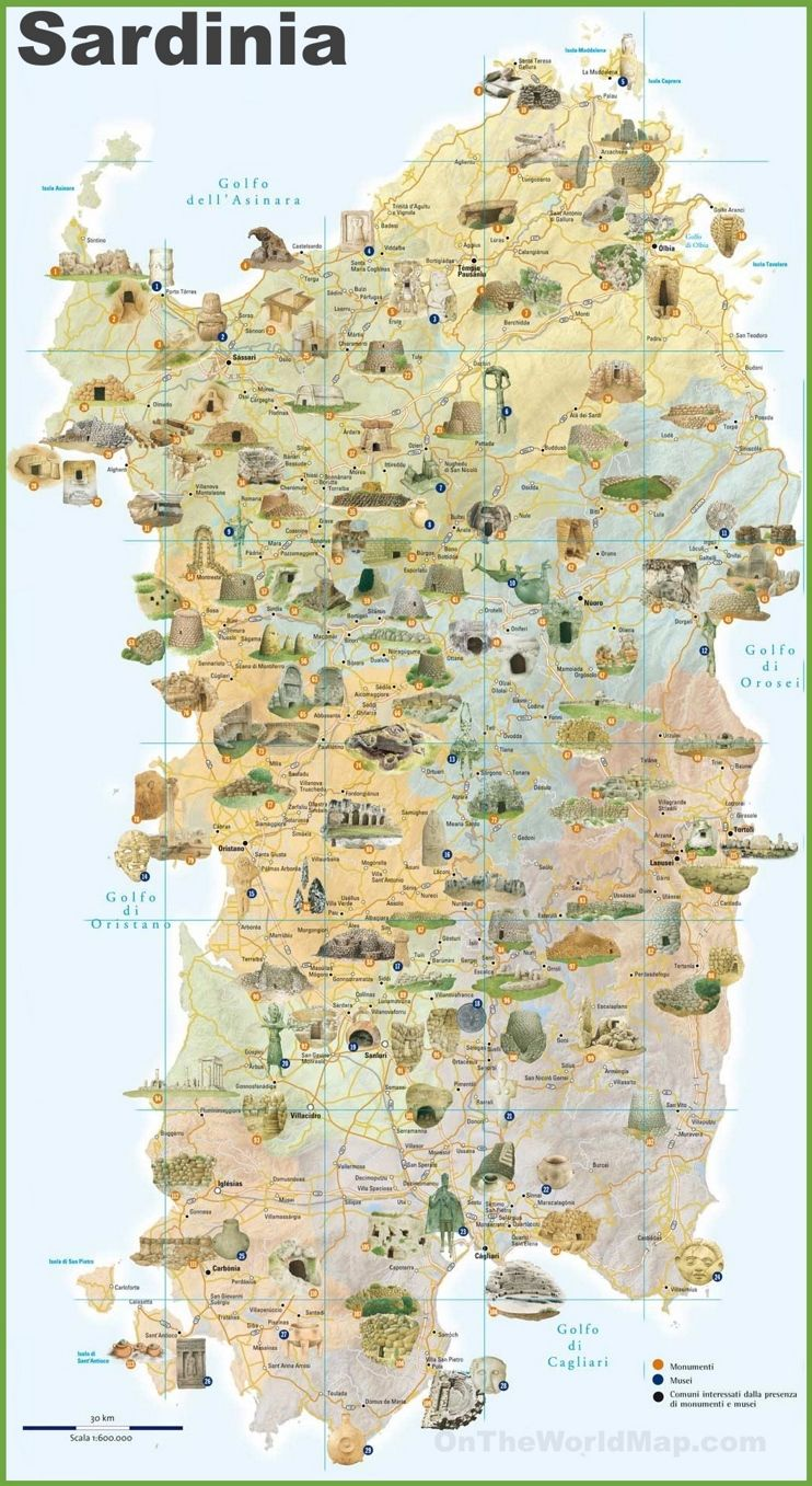 Cartina Sardegna Bosa Marina.Sardinia Tourist Map Tourist Map Sardinia Sardinia Italy