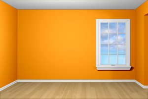 Glidden Juicy Cantaloupe As Accent Wall