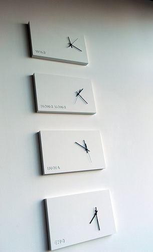 International time design, wall clocks, WHQ, Hong Kong, India, EHQ, Nike, office, Beaverton, Oregon, USA   by Wonderlane