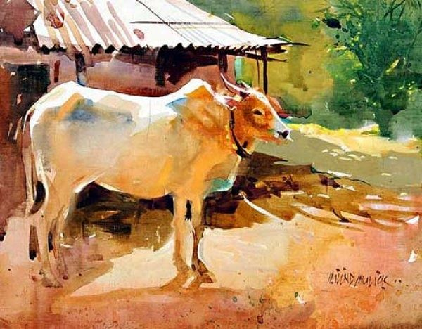 Indian Watercolour Artists Google Search Watercolor Animals