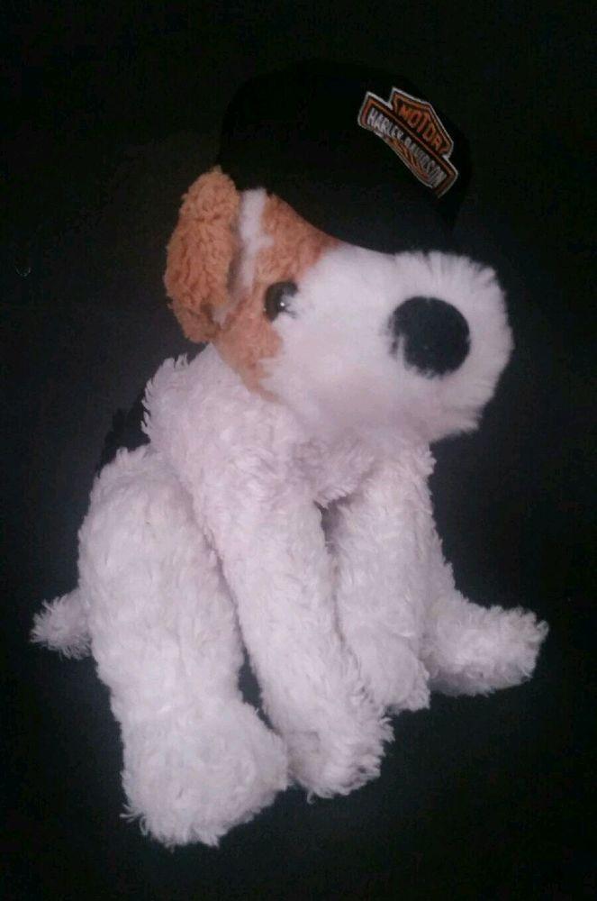 Harley Davidson Dog Plush Fox Terrier Rally Stuffed Puppy Toy 2011