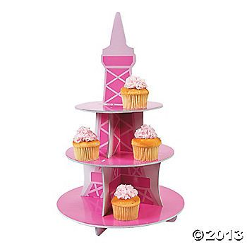 Perfectly Paris Cupcake Holder  -  Create an amazing centerpiece that will rival the Eiffel tower. Make you desserts très bien! Foam.