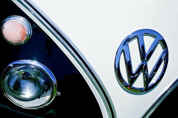 Volkswagen Images by Jill Reger - Images of Volkswagens - VW Images - 1966 Volkswagen Vw Microbus Emblem