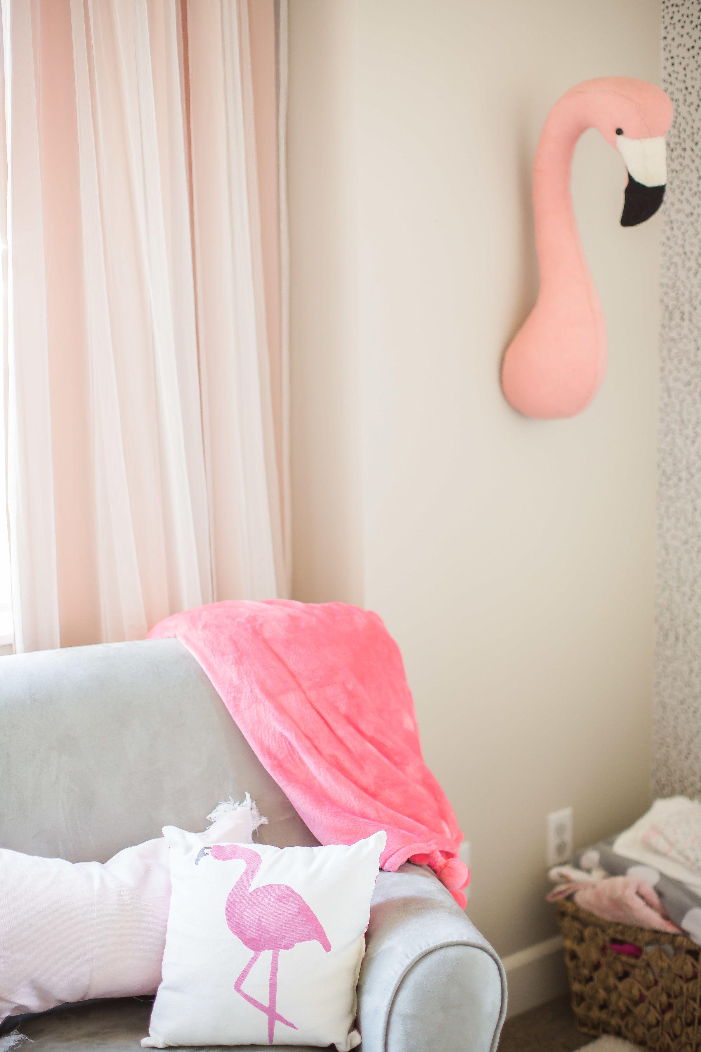 Baby flamingo car interior design - Mila S Flamingo Nursery