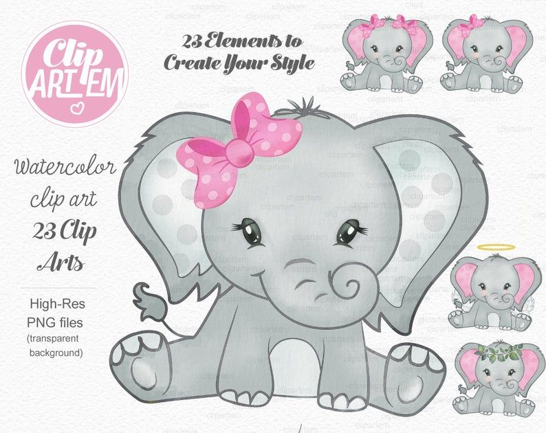 34++ Baby elephant clipart free info