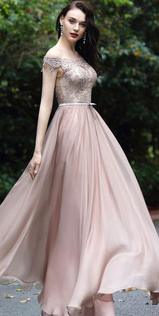 6d39681a62c7 Blush Off Shoulder Lace Prom Dress (02171946) | eDressit | Prom ...