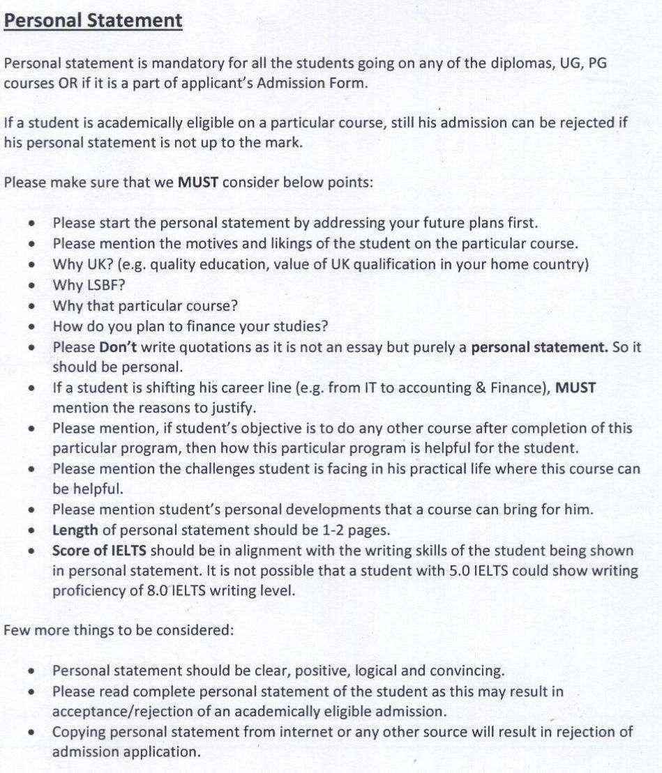 University personal statements writing assistance