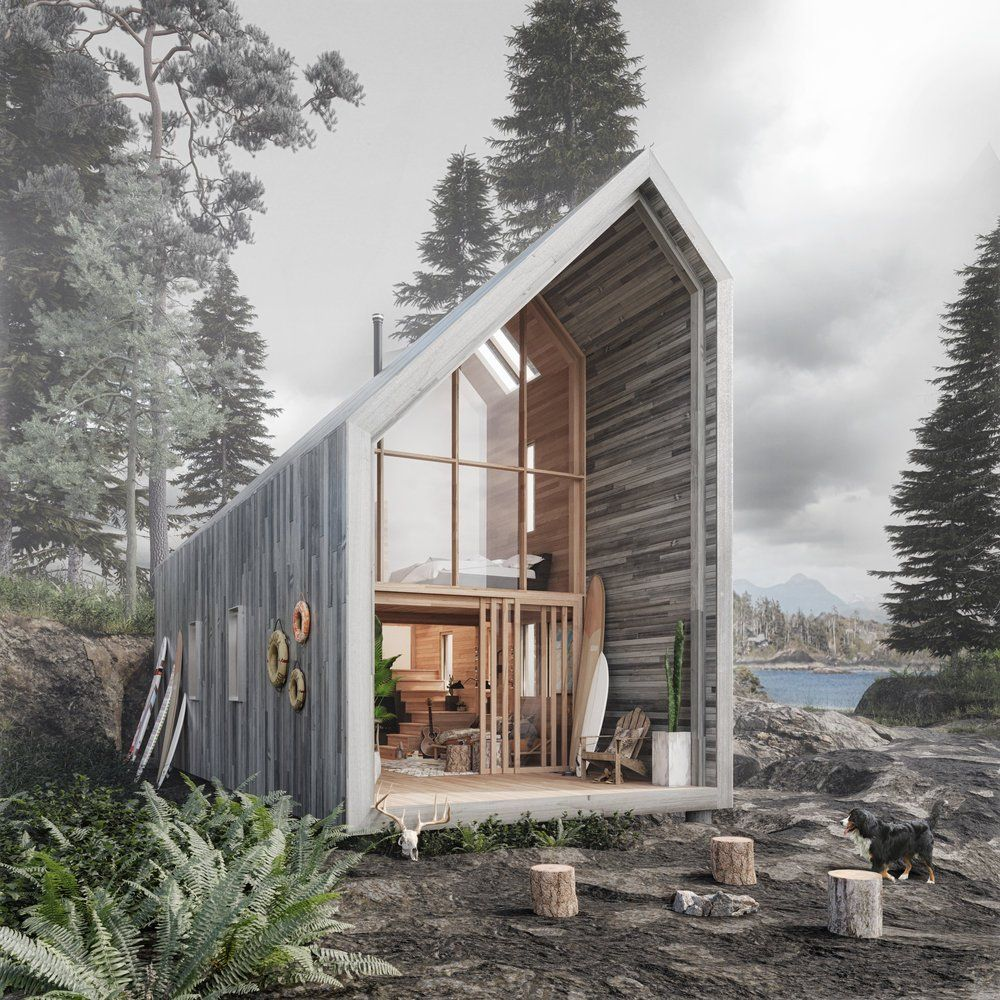 Want to Live Beachfront Affordably and Off-the-Grid? This Prefab Surf Shack Is for You