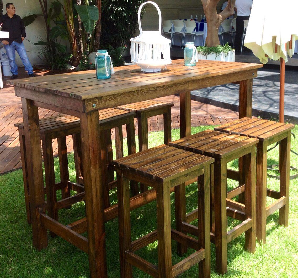Periqueras de madera vintage a rustic style by d j for Mesas exterior baratas