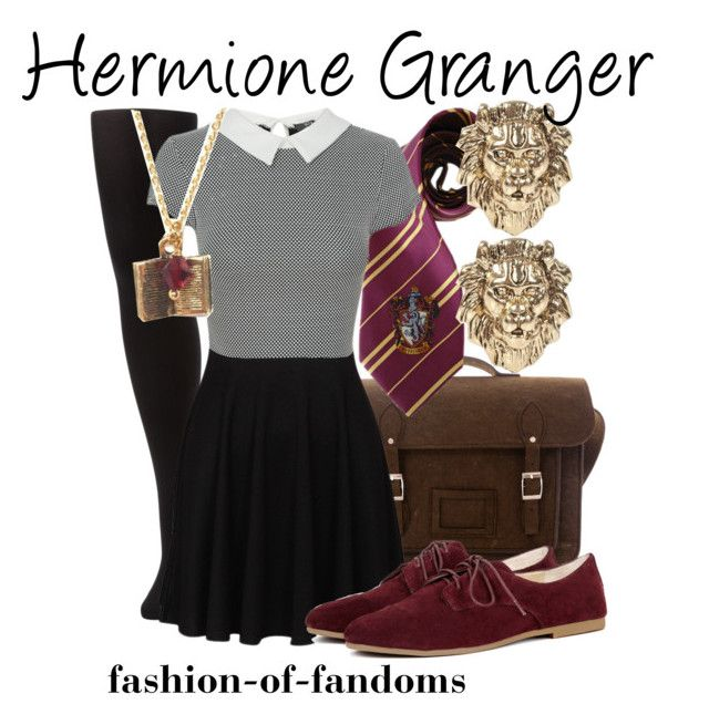 """Hermione Granger"" by fofandoms ❤ liked on Polyvore featuring Wolford, River Island and Sole Society"