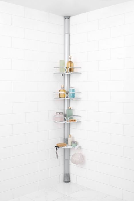 d2ce706b3f17ff87ce402d9895016c9c - Better Homes And Gardens Contoured Tension Pole Shower Caddy Instructions