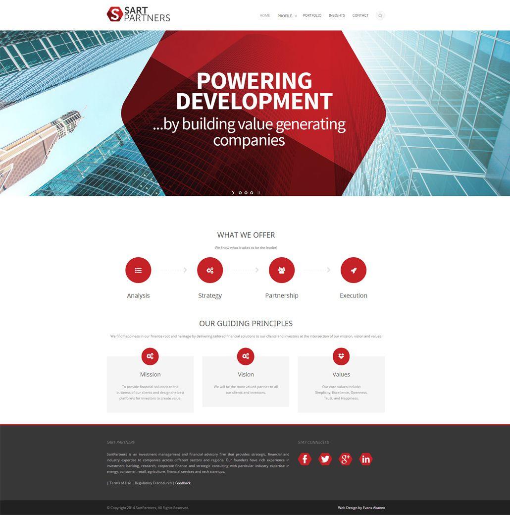 Sart Partners Home Page Website Design Web Design Partners
