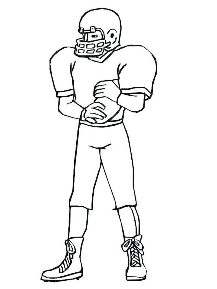 Coloring Page Of A Football Player American Football Is Often Associated With Rugby Because Th In 2020 Football Coloring Pages Sports Coloring Pages Coloring For Kids