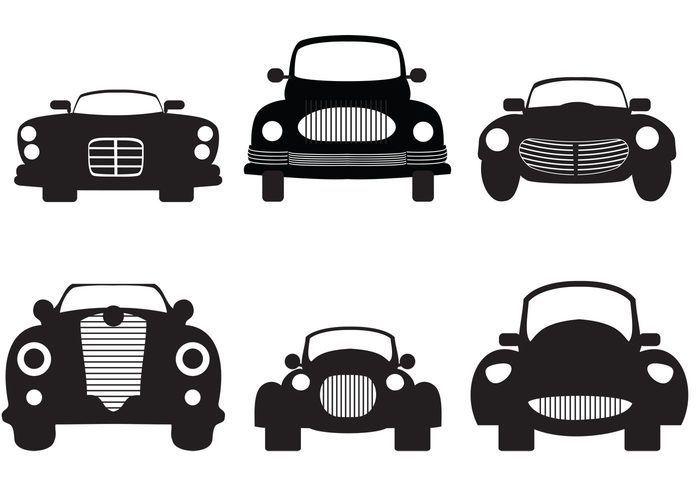 Classic Car Silhouette Car Silhouette Vector Art Design Free Vector Art