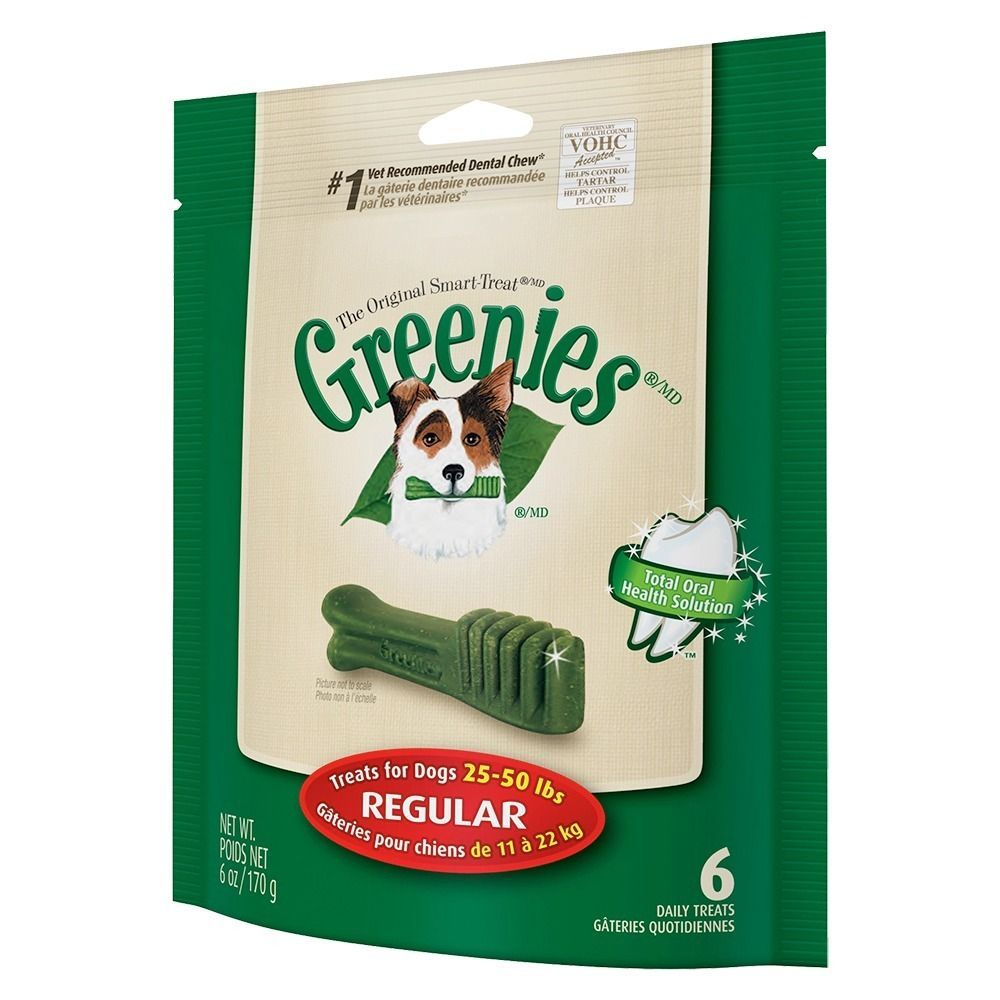 Greenies Mini TreatPak Regular Bones (Pack of 6