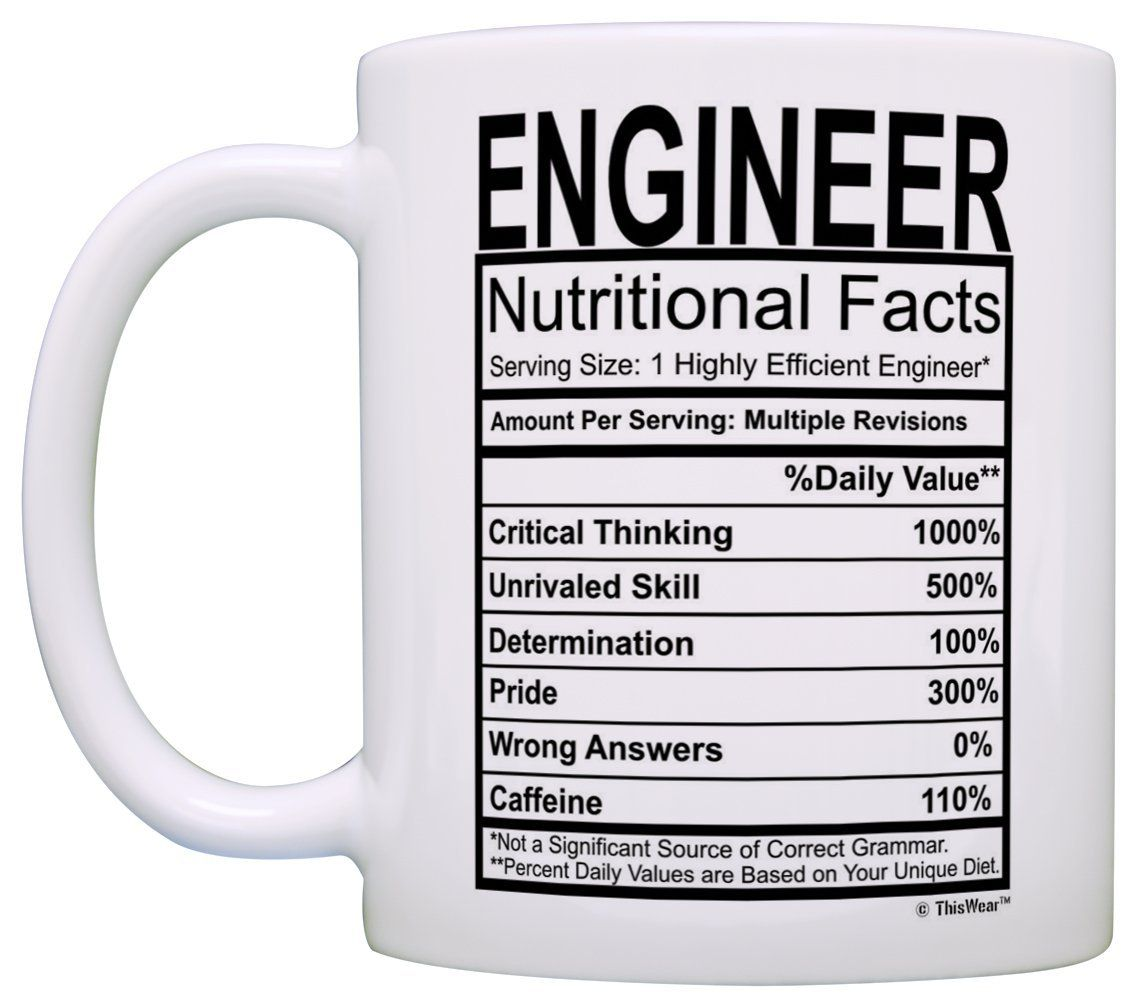 Engineering Gifts Engineer Nutritional Facts
