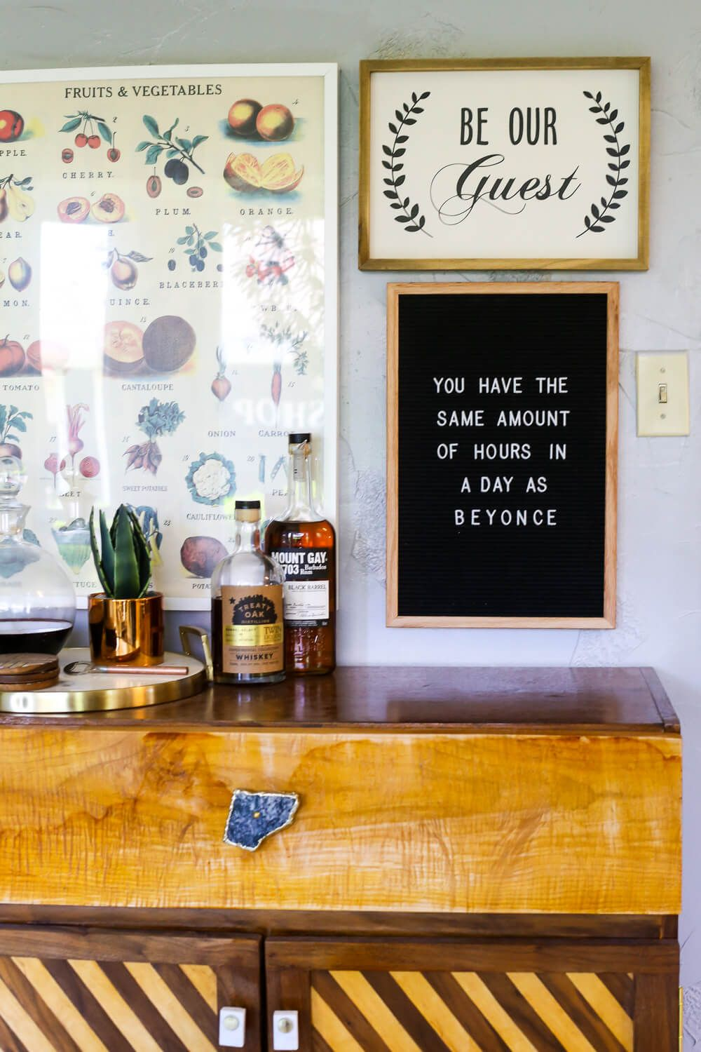 Tips & tricks for using a felt letter board in your home