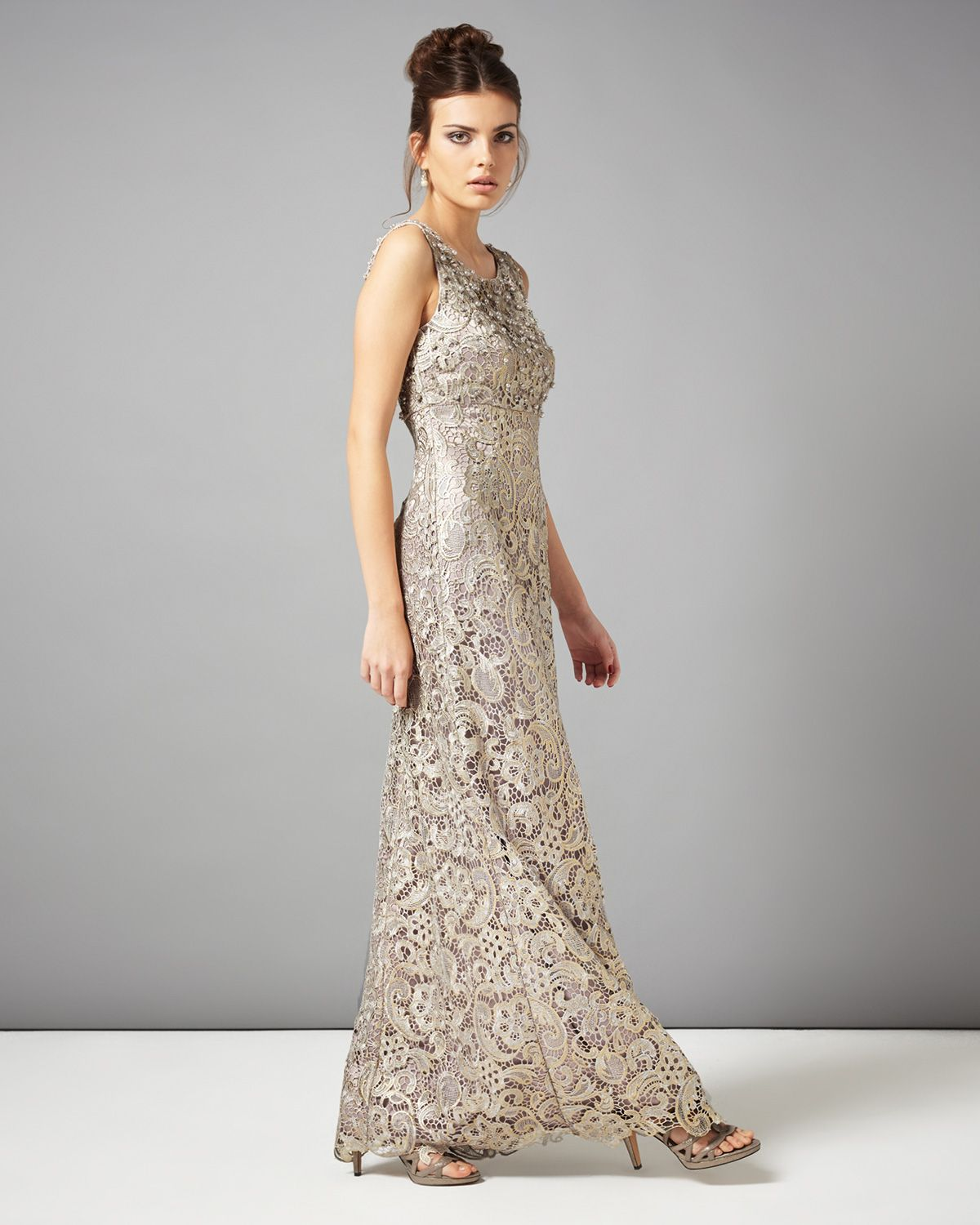 promo codes big clearance sale world-wide renown collection 8 dresses | Metallics Aleana Pearl Lace Full ...
