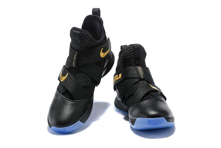 f0afb3ed9c1 Nike LeBron Soldier 12 Black Metallic Gold For Sale