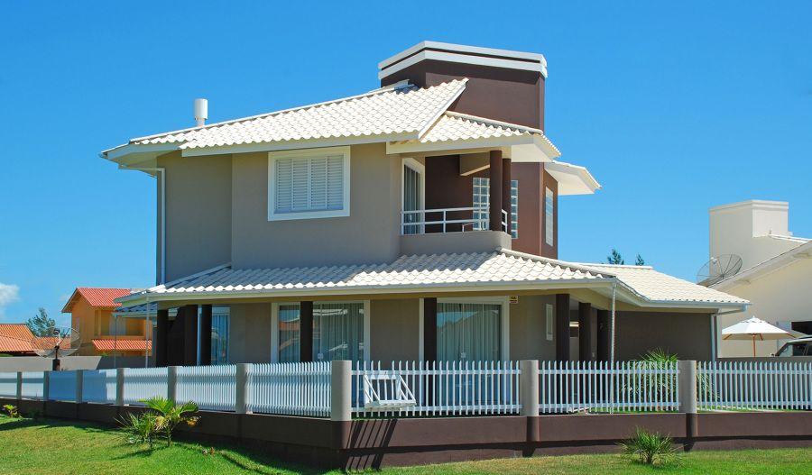 Casas coloridas dicas e cores para pintar a fachada - Pintar fachada casa ...