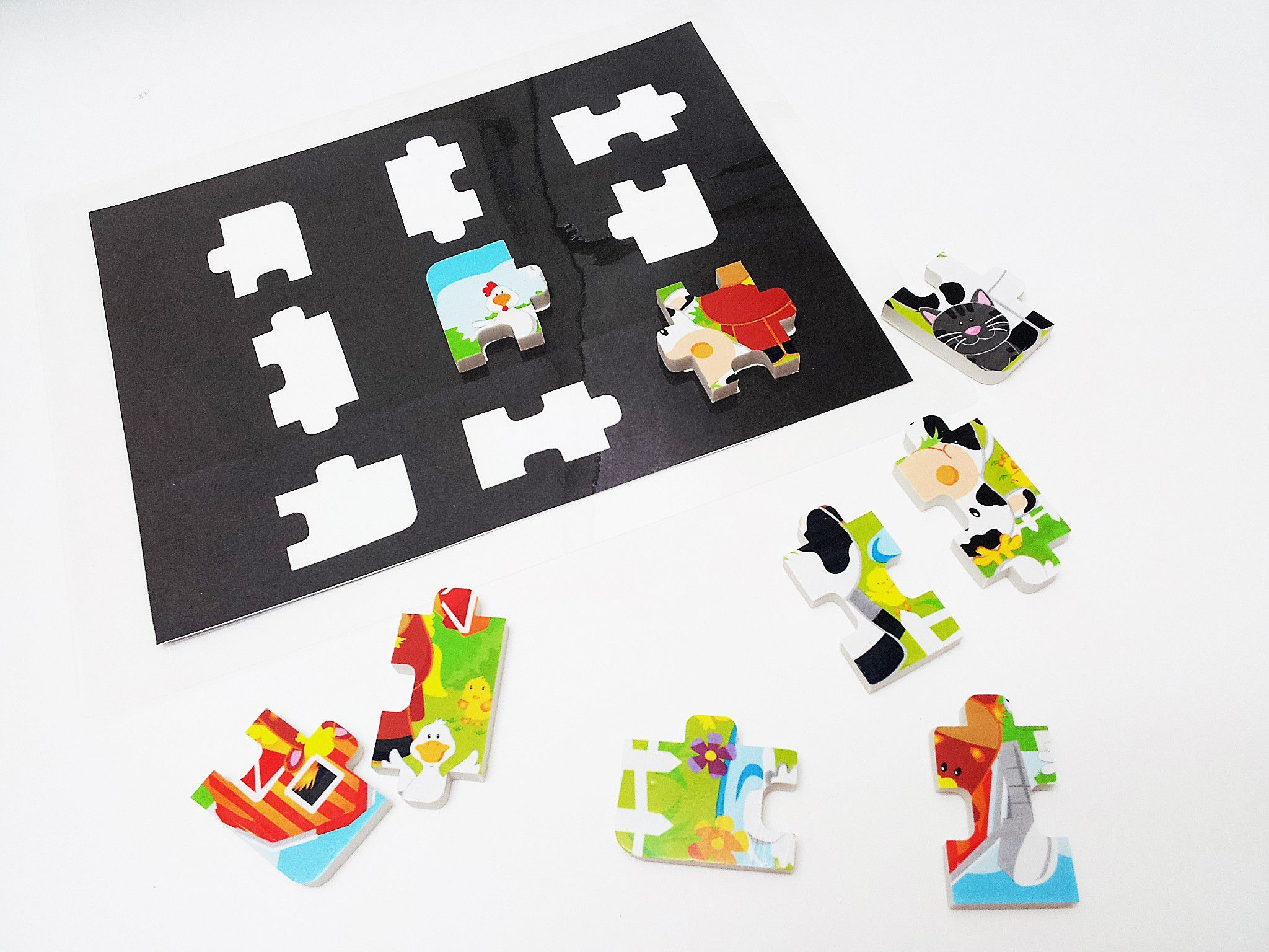Silhouette Matching Eraser Farm Puzzle Activity