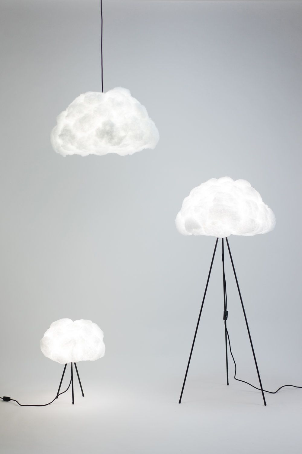 Lamp Shade Designed To Mimic The Shape And Texture Of A Cloud. More Info  Below U0026 Project Link Here.