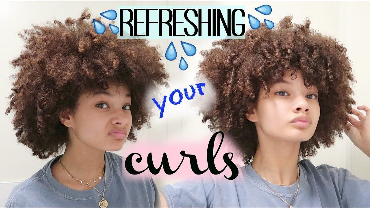 How i refresh curls after day 2 youtube hair hacks curls