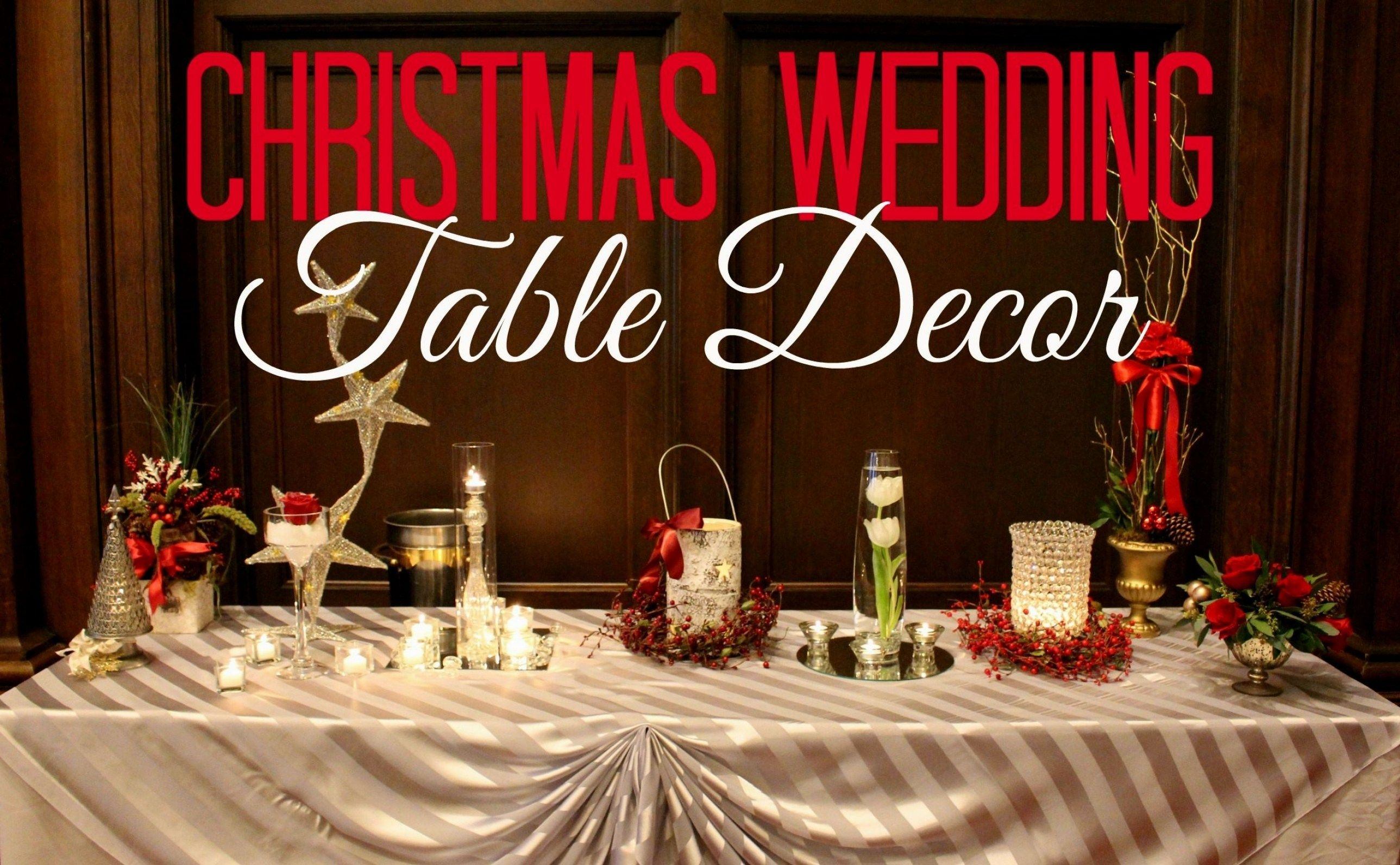 30 Stunning Decorating Ideas For A Christmas Wedding Reception
