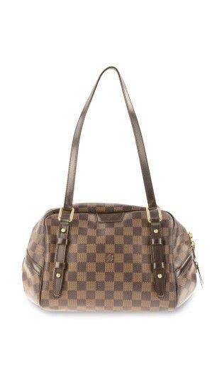 68e9926ced1 Louis Vuitton Rivington Pm Damier Ebene Brown Coated Canvas Shoulder Bag -  Tradesy