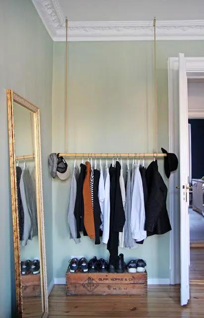 Coole Einrichtungsideen mit Kleiderstangen