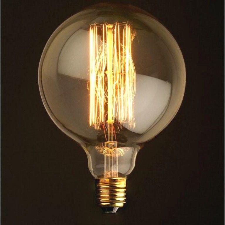 Gloeilamp Globe Xl E27 60w Gloeilamp Kunst Light Bulb Lamplicht