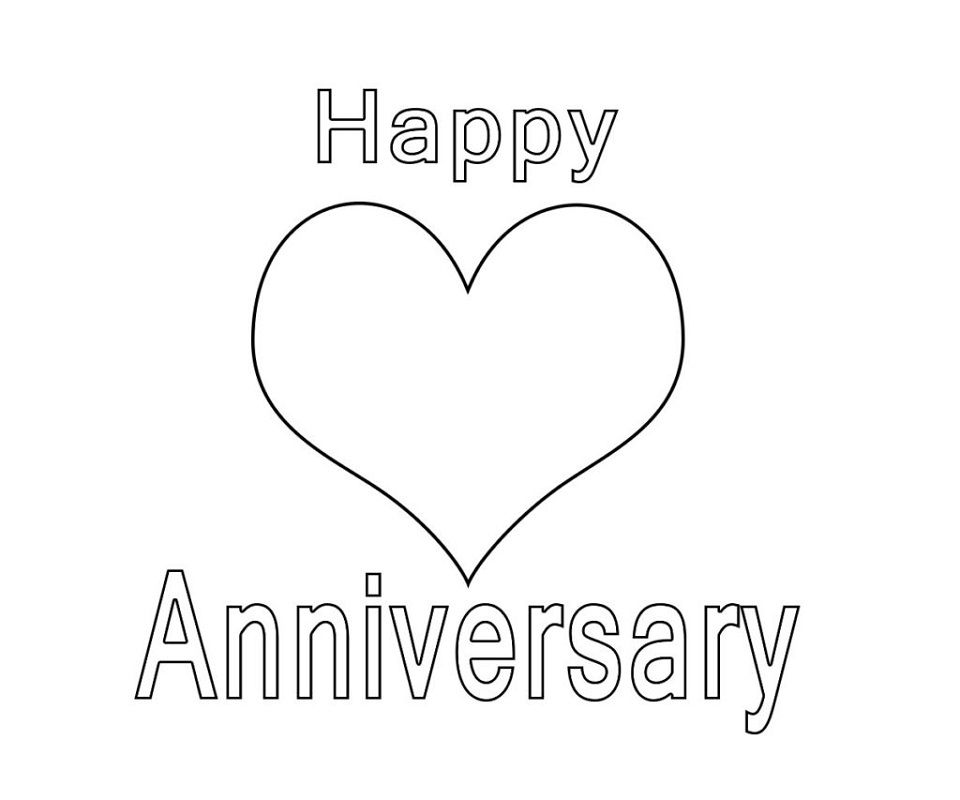 Happy Anniversary Coloring Pages Kids Learning Activity Happy Anniversary Happy Birthday Coloring Pages Birthday Coloring Pages