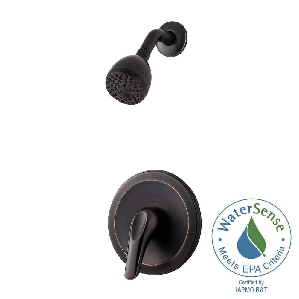 Pfister Pfirst Series Single-Handle Shower Faucet Trim Kit in Tuscan Bronze (Valve Not Included)