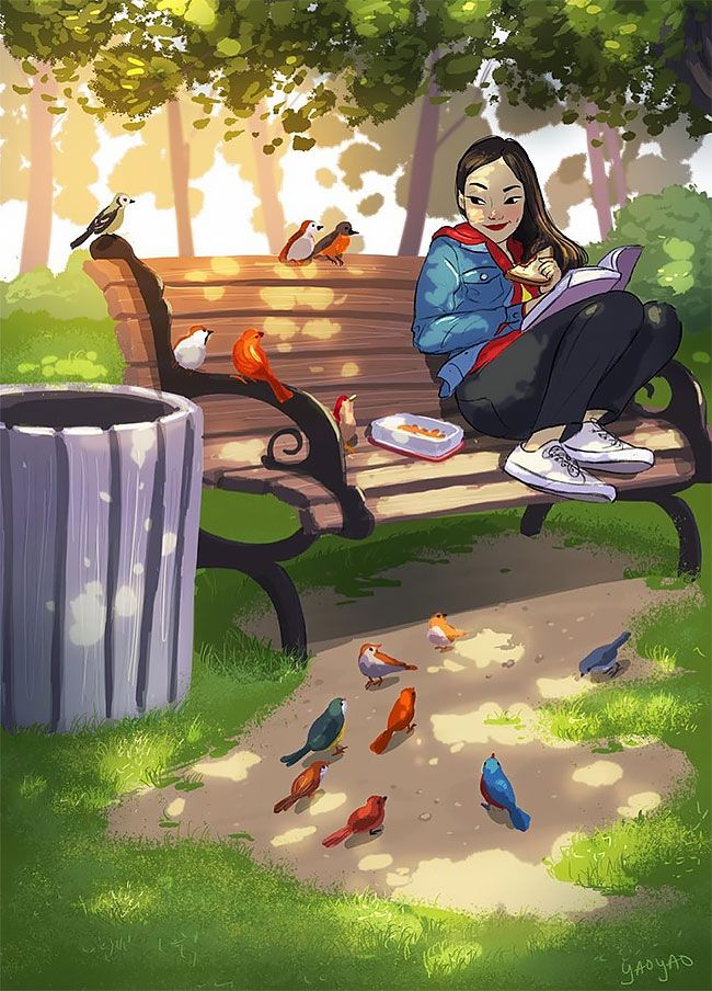 Illustrator Yaoyao Ma Van As Perfectly Captures The Happiness Of