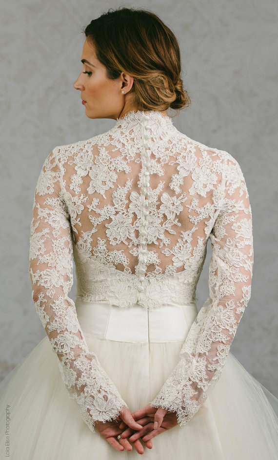 2bd43ee6ff Button Back Bridal Topper - Button Back Topper - Button Back Bolero ...