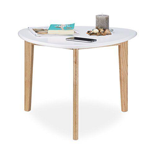 Holz Le Design relaxdays couchtisch nierentisch tischbeine aus eichen holz weiße