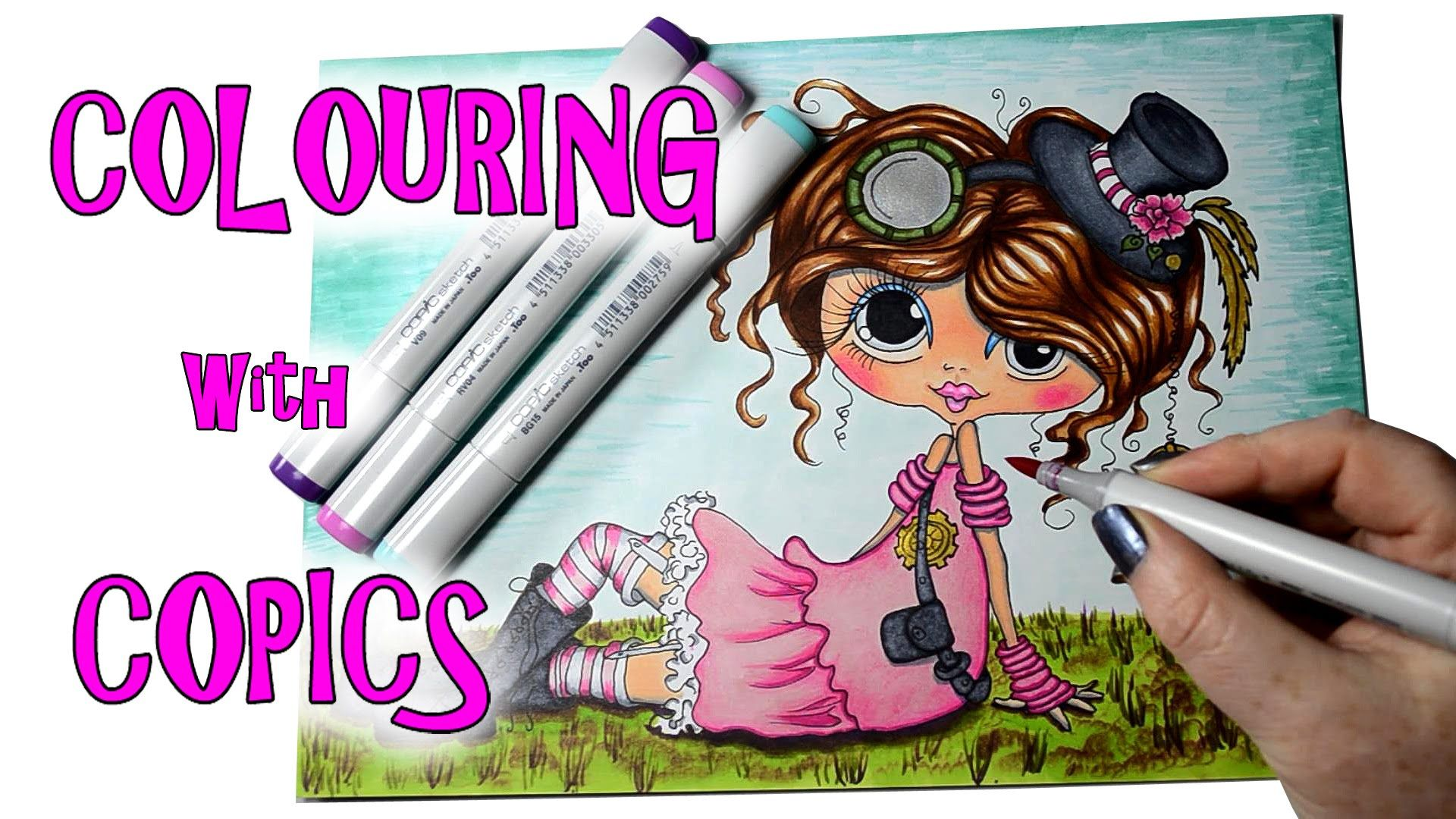 Colouring Sherri Baldy with Copics - Steampunk - Copic Markers - My Besties