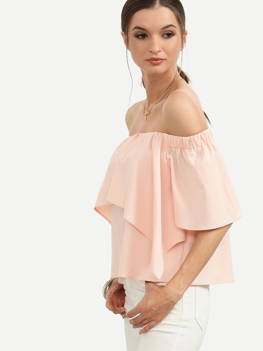 3578fafa8c2bf3 Material: 100% Polyester Color: Pink Pattern Type: Plain Collar: Off the