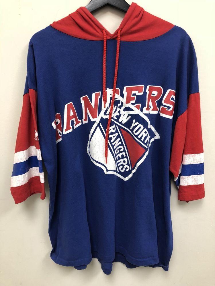 Apex One NHL New York Rangers Short Sleeve Hoodie Shirt  a55e2cb61
