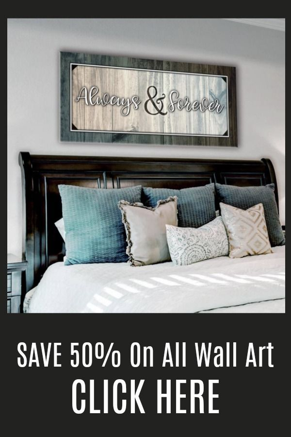 Bedroom Decor Wall Art: Forever And Always Wall Art 2 Sizes Available (Wood  Frame Ready To Hang) | Wall Canvas, Bedrooms And Woods