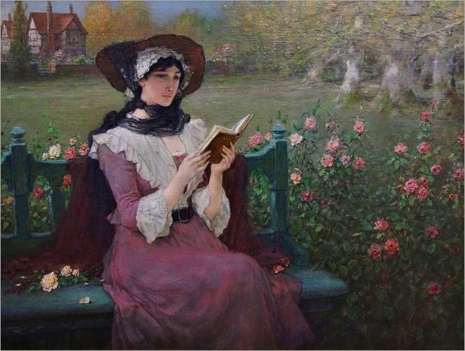 Woman_Reading_by_George_Henry_Boughton, _c._1900_Albany_Institute_of_History_and_Art