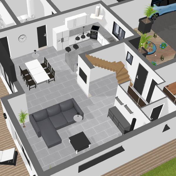 Plan maison 3d logiciel gratuit pour dessiner ses plans 3d 3d conception en 2019 plan - Dessiner plan de maison ...