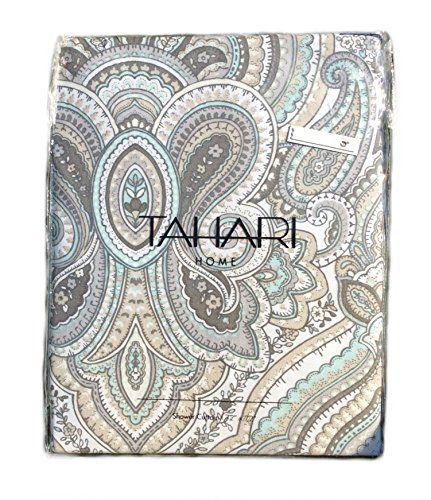 Tahari Fabric Shower Curtain Paisley Medallion Mackenzie Tan Tahari Home  Http://www.