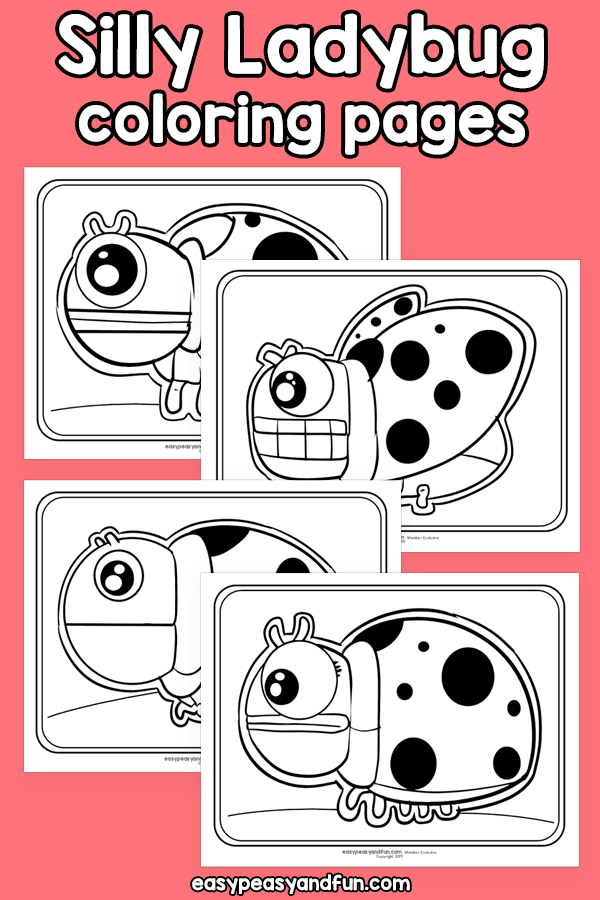 Silly Ladybug Coloring Pages Ladybug Coloring Page Coloring Pages Craft Activities For Kids